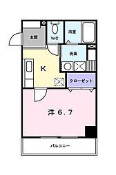 ニューフォーユータナキ[2階]の間取り