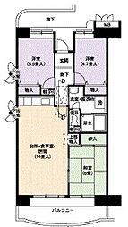 URアーバンラフレ小幡5号棟[2階]の間取り