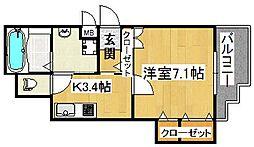 クリエオーレ太子田[1階]の間取り