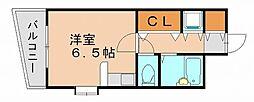 福岡県福岡市博多区新和町2の賃貸マンションの間取り