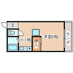 兵庫県神戸市須磨区南町2丁目の賃貸アパートの間取り