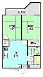 大福マンションII[3階]の間取り