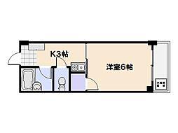 ビレッジ中央[1階]の間取り