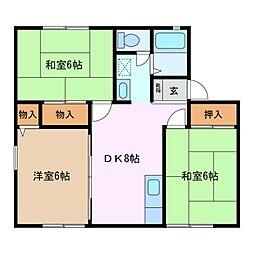 ルネハウス A棟[2階]の間取り