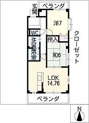ロイヤルエステートII[1階]の間取り