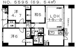 ローレルコート阿倍野三明町[3階]の間取り