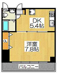 シボラ六条高倉[3A号室]の間取り