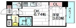 WE大阪緑地公園[2階]の間取り