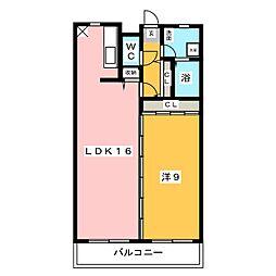 ANNEX住乃江[4階]の間取り