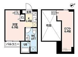 神奈川県相模原市南区相模台2の賃貸アパートの間取り