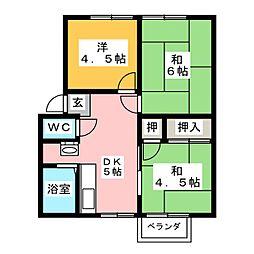 シャトーダン[1階]の間取り