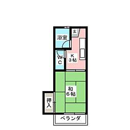美徳15番館[2階]の間取り
