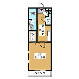 カンパーナ春岡[2階]の間取り