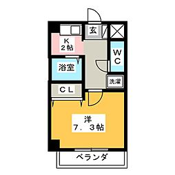 愛知県名古屋市中川区舟戸町の賃貸マンションの間取り