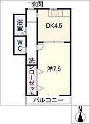 サンホーム五条C棟[1階]の間取り