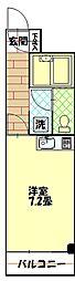 Jフラット[207号室]の間取り