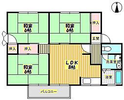 メゾンソシアルA[1階]の間取り