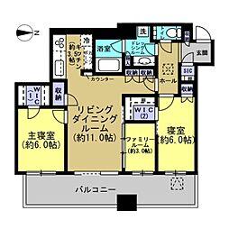 パークシティ武蔵小杉ザ・ガーデンタワー・イースト[4406号室]の間取り