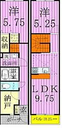 [タウンハウス] 千葉県松戸市松戸新田 の賃貸【千葉県 / 松戸市】の間取り