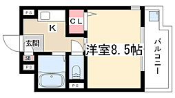 ヤングヴィレッジ2[1B号室]の間取り