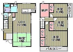 [一戸建] 大阪府和泉市箕形町5丁目 の賃貸【/】の間取り