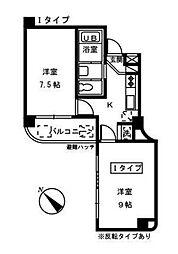 クレール東十条[2階]の間取り