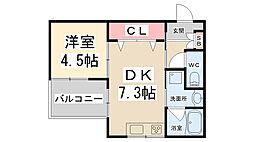 Maison de Raffine II 1階1DKの間取り