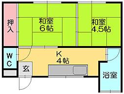 黒田アパート[1階]の間取り