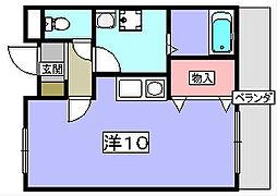 ツインヒルズ[4階]の間取り