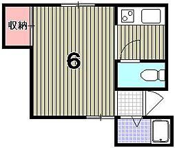 STH紫野[205号室]の間取り