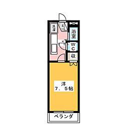 ロイヤルマンション本郷II[1階]の間取り