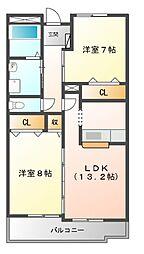 Land Mark 玉垣[7階]の間取り