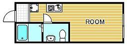 神奈川県相模原市中央区横山6丁目の賃貸アパートの間取り