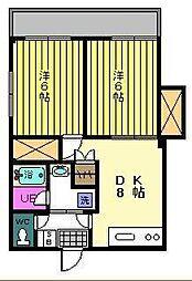 東京都足立区西綾瀬3丁目の賃貸マンションの間取り