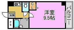 ハイツNANIWA[3階]の間取り