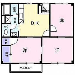 冨士野ハイツ[2階]の間取り