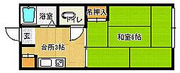 兵庫県宝塚市小林2丁目の賃貸アパートの間取り