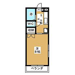 アークハイツ富田町[4階]の間取り