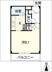 クランベリープラザ[2階]の間取り
