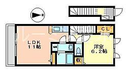 K'sウエスト神戸[2階]の間取り