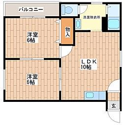 マイプラザ田島[402号室]の間取り