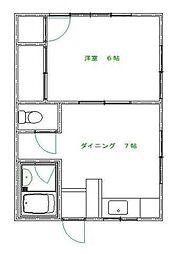 岩沢ハイム[2階]の間取り