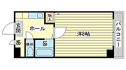 兵庫県姫路市安田4丁目の賃貸マンションの間取り