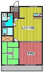 ジャスティムKII[5階]の間取り