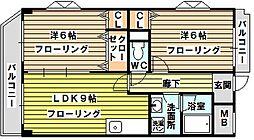 ミレニアム[2階]の間取り