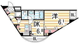 ジャルダン学研住道[4階]の間取り