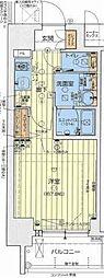阪神なんば線 ドーム前駅 徒歩3分の賃貸マンション 10階1Kの間取り