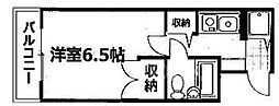 下京区第17長栄シャルマン四条大宮壱番館[305号室号室]の間取り