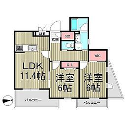 Ruscello Kamakura[1階]の間取り