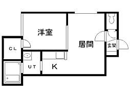 サクシードN33E5[201号室]の間取り